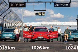 Hyundai Kona Electric phá giới hạn 1.000 km mỗi lần sạc