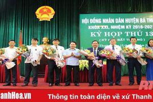 HĐND huyện Bá Thước bầu bổ sung chức danh Chủ tịch, Phó Chủ tịch HĐND; Chủ tịch, Phó Chủ tịch UBND huyện