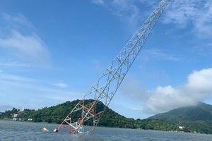 Đã bắt được tàu cá đâm nghiêng cột điện trên biển