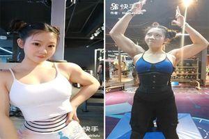 Mặt học sinh thân hình lực sĩ, hot girl xứ Trung nổi tiếng MXH