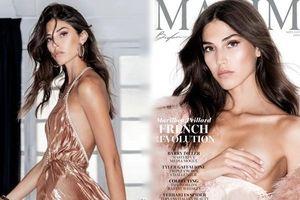 'Bông hồng Pháp' cao 1m81 lên bìa Maxim