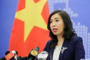 Việt Nam yêu cầu Trung Quốc hủy tập trận ở quần đảo Hoàng Sa