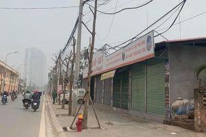 Trên đường Sa Đôi (quận Nam Từ Liêm): Nhiều cây chết khô, hố đất nham nhở