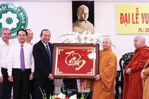 Phó Thủ tướng Trương Hòa Bình chúc mừng lễ Vu lan
