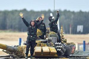 Khoảnh khắc đội tuyển xe tăng Việt Nam lần đầu tiên vô địch Tank Biathlon
