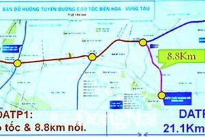 Thống nhất phương án đầu tư đường cao tốc Biên Hòa - Vũng Tàu