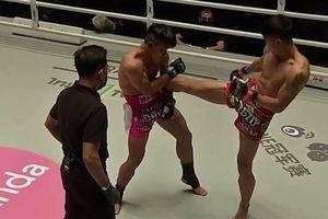 Một đòn thẳng ngực, võ sĩ Campuchia hạ cao thủ Trung Quốc