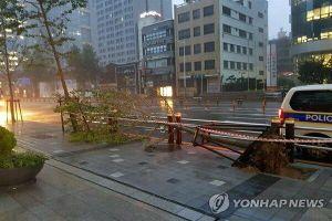 Hình ảnh bão Haishen đổ bộ vào Hàn Quốc
