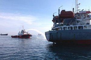 Đã tìm thấy thi thể thuyền viên trong vụ nổ tàu dầu ở cảng Dung Quất