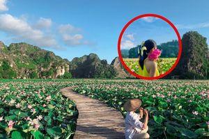 Ngỡ ngàng hồ sen nở rộ giữa Thu ở Hang Múa (Ninh Bình), giới trẻ tha hồ chụp ảnh 'sống ảo'