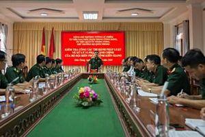 Đoàn công tác Bộ Quốc phòng thăm và kiểm tra Bộ đội Biên phòng tỉnh Kiên Giang
