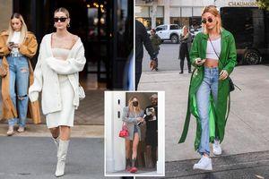 Học nàng mẫu Hailey Bieber cách phối đồ mùa hè thành trang phục mùa thu cá tính