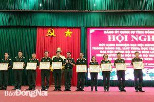 Rút kinh nghiệm đại hội Đảng các cấp trong Đảng bộ Quân sự tỉnh