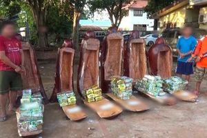 Giấu 237 kg ma túy các loại trong các bức tượng gỗ