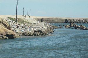 Quảng Ngãi khẩn cấp gia cố đê ở các cảng neo trú tàu thuyền trước mùa mưa bão