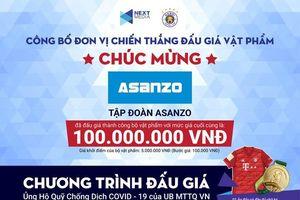 Chốt giá 100 triệu đồng HCV và áo đấu 'Ủng hộ quỹ chống dịch COVID-19'