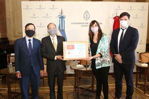 Quốc hội Argentina tổ chức lễ tiếp nhận quà tặng của Quốc hội Việt Nam