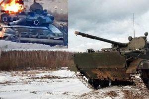 Hi hữu: Xe chiến đấu bộ binh BMP-3 Nga khai hỏa tên lửa 'đánh quỵ' xe tăng T-90 ở Syria?