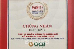 OCB góp mặt trong Fast 500 & Top 10 ngân hàng uy tín năm 2020