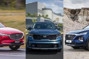 KIA Sorento mới khác biệt gì so với đối thủ Mazda CX-8 và Hyundai SantaFe?