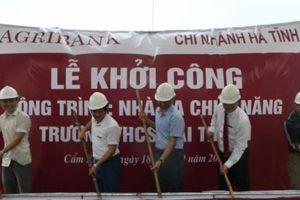 Agribank Hà Tĩnh II tài trợ 5 tỷ đồng xây dựng nhà đa chức năng