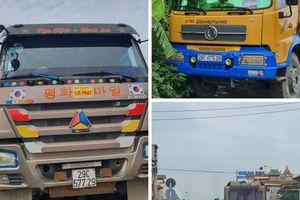 'Sờ gáy' hàng loạt xe quá tải đeo logo 'Lợi Phát' tung hoành Hà Nội