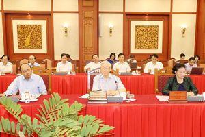 Bộ Chính trị làm việc với 20 Đảng bộ trực thuộc Trung ương