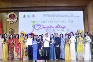 Chung khảo hội thi 'Duyên dáng Phụ nữ Ba Đình' năm 2020