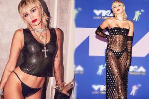 Loạt trang phục quằn quại, hở táo bạo từ thảm đỏ đến sân khấu của Miley Cyrus
