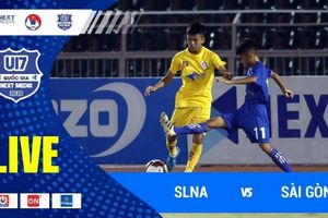 Trực tiếp U17 SLNA vs U17 Sài Gòn, giải U17 Quốc gia 2020