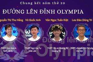 4 thí sinh vào chung kết Đường lên đỉnh Olympia 2020: Kẻ tám lạng, người nửa cân