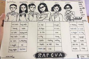 Sơ đồ lớp phiên bản Rap Việt: Thầy cô 'hóa thân' thành các HLV và giám khảo cực chất