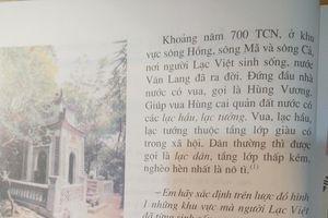 'Vua… thời Hùng Vương thuộc tầng lớp giàu có trong xã hội'!