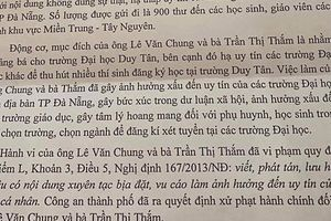 Gửi thư nặc danh bôi xấu các trường ĐH ở Đà Nẵng, một Phó giám đốc trung tâm bị xử phạt hành chính
