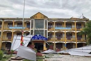 Ngành giáo dục tỉnh Thừa Thiên - Huế bị ảnh hưởng sau bão số 5