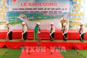 Khởi công xây dựng đường kết nối thành phố Yên Bái với quốc lộ liên tỉnh