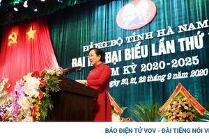 Bà Lê Thị Thủy tiếp tục được tín nhiệm bầu làm Bí thư Tỉnh ủy Hà Nam