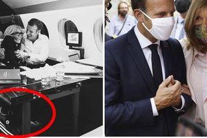 Chụp ảnh được chồng ôm tình tứ trên máy bay riêng, Đệ nhất phu nhân Pháp lại gây chú ý bằng một chi tiết đầy khó hiểu