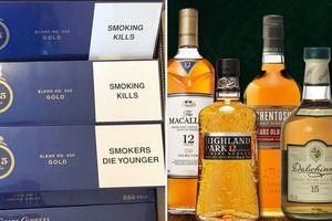 Thuốc lá ngoại 555, rượu whisky vào Danh mục hàng hóa nhập khẩu không được gửi kho ngoại quan