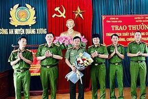 Thưởng nóng Công an huyện Quảng Xương 40 triệu đồng