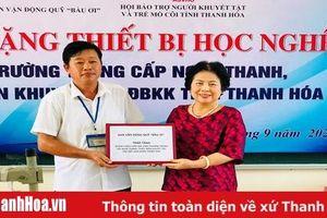 Trao tặng thiết bị học nghề cho Trường Trung cấp nghề thanh, thiếu niên khuyết tật, đặc biệt khó khăn tỉnh Thanh Hóa