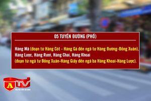 Cấm phương tiện trên 5 tuyến phố phục vụ Trung thu phố cổ