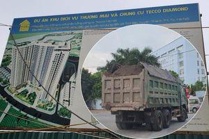 Hà Nội: Xe chở 'có ngọn' tung hoành tại dự án Tecco Diamond Thanh Trì