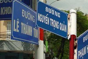 Gần 40 tên đường ở TP.HCM bị sai tên