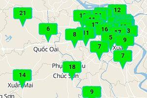 Sáng nay, 100% khu vực ở Hà Nội có chất lượng không khí tốt