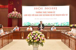 Bí thư Thành ủy Vương Đình Huệ làm việc với Ban Cán sự đảng Bộ Kế hoạch và Đầu tư