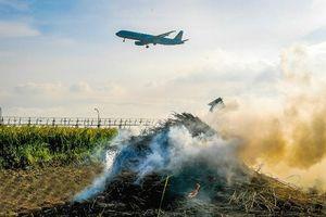 Huyện Sóc Sơn sẽ xử phạt nghiêm người dân đốt rơm rạ