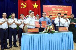 Cà Mau ký kết chương trình phối hợp với Cảnh sát biển Việt Nam