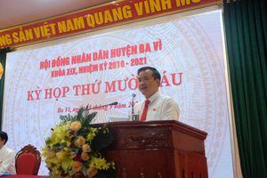 Ông Đỗ Mạnh Hưng được bầu làm Chủ tịch UBND huyện Ba Vì
