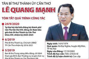 Tân Bí thư Thành ủy Cần Thơ Lê Quang Mạnh